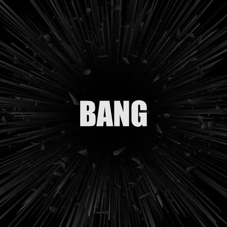 Abstract black explosion banner. Vector illustration