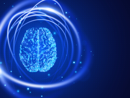Human brain abstract technology background. Vector illustration EPS10