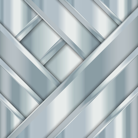 Metal texture background. Geometric pattern with stripes. Abstract vector illustration EPS10 Ilustração