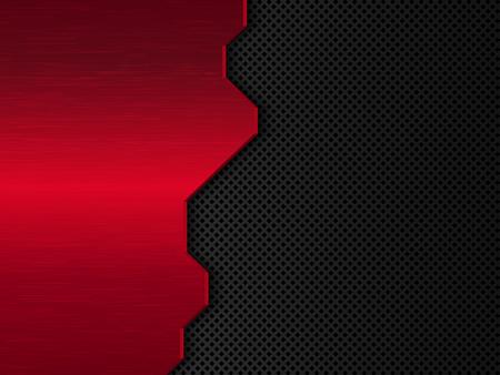 Black and red metal background. Abstract vector illustration EPS10. Reklamní fotografie - 98166666