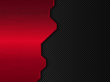 Black and red metal background. Abstract vector illustration EPS10.