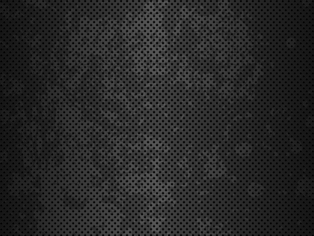 Grunge metal texture. Black metal background. Abstract vector illustration.
