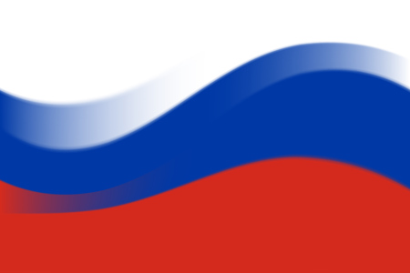 Waving colorful national flag of russia. Vector illustration EPS10 向量圖像