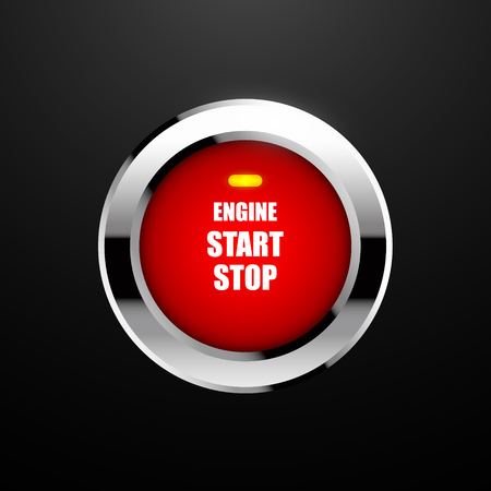 Engine start button. Vector illustration EPS10