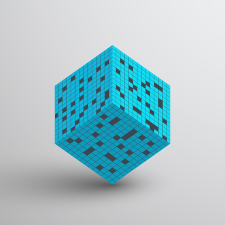 3D Cube. Vector illustration. Abstract geometric background. Standard-Bild - 104489289