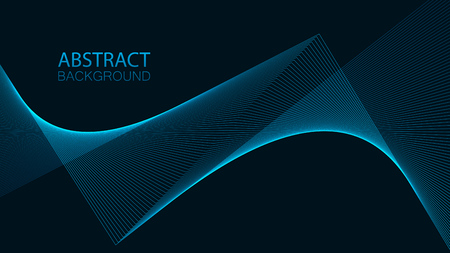 Abstract background with dynamic lines. Vector illustration EPS10