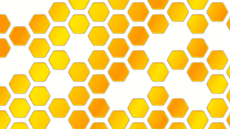 Honeycomb geometric background. Abstract vector Illustration EPS10