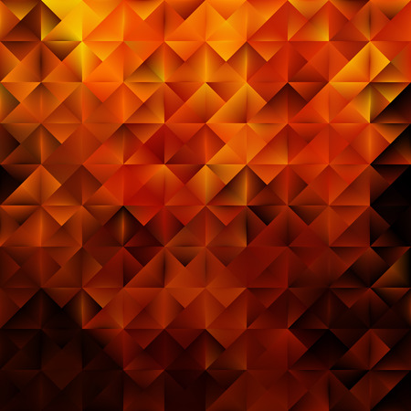 Golden geometric triangular pattern. Abstract vector background.