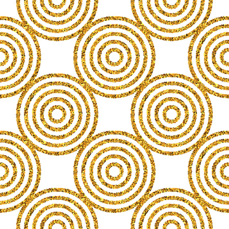 Gold glitter seamless pattern. Geometric background. Vector illustration EPS10