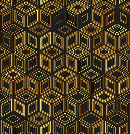 Seamless geometric pattern. Vector background with cubes.