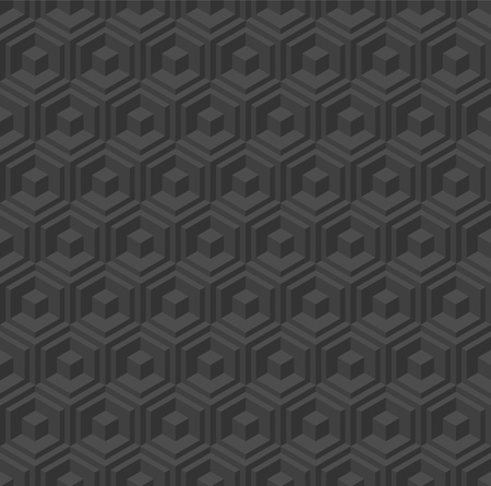 Seamless geometric pattern. Vector background with cubes and hexagons.