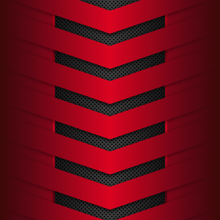 Black and red metal background. Abstract vector illustration EPS1