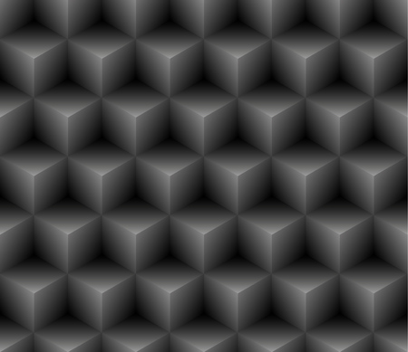 Seamless geometric pattern. Vector background with 3D cubes.