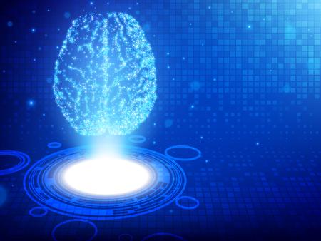 Human brain. Abstract technology background. Vector illustration EPS10 Ilustracje wektorowe
