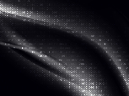 Binary code. Abstract technology concept background. Illusztráció