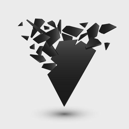 Black explosion. Abstract geometric background illustration Illusztráció