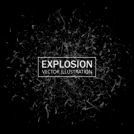 Abstract black explosion. Geometric background illustration 向量圖像
