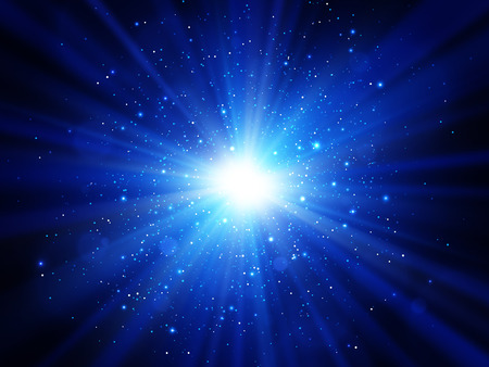 Light effect. Star burst with sparkles. Blue vector explosion EPS10 Stock fotó - 127698050