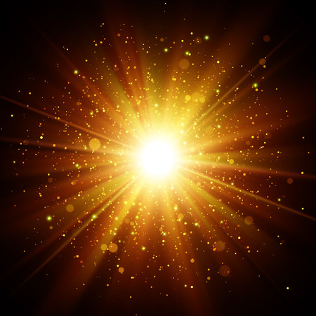 Gold glitter shine star with sparkles. Abstract vector explosion EPS10 Stock fotó - 127698054