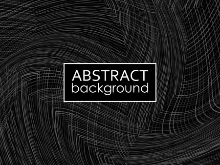 Abstract black and white geometric background. Vector illustration EPS10