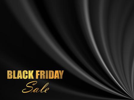 Black Friday Sale Banner. Abstract Vector Background EPS10 Illusztráció