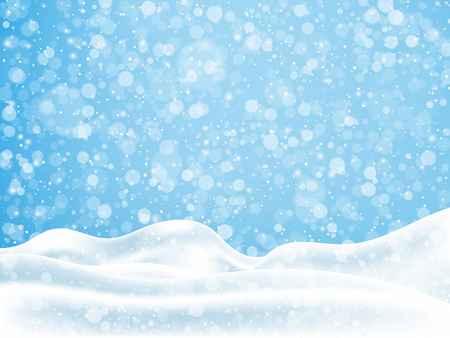 Christmas, New Year background with snow. Vector illustration EPS10