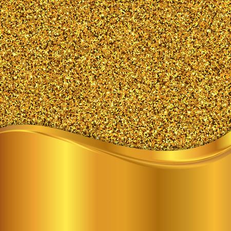 Gold glitter texture. Golden vector background. EPS10 Stock fotó - 127269575