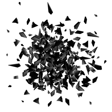 Abstract black explosion. Geometric background. Vector illustration EPS10