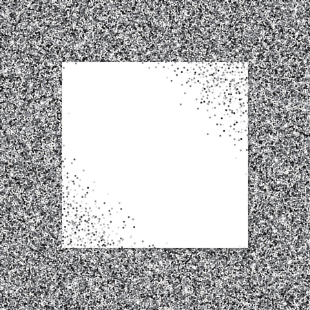 Silver glittery texture. Abstract vector background. EPS10