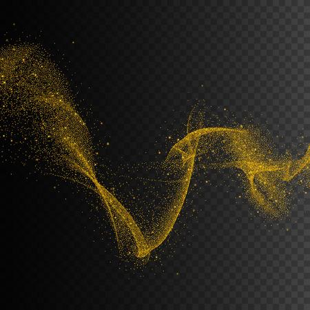 Gold glittering star dust trail sparkling particles. Vector background EPS10 Illusztráció