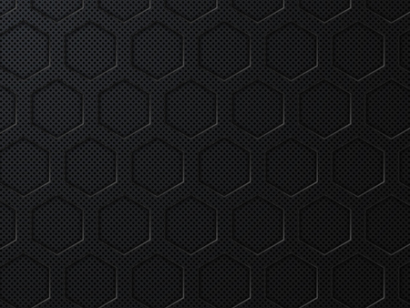 Abstract black geometric background with hexagons. Vector illustratio EPS10
