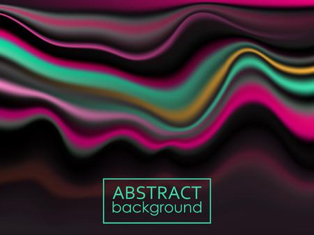 Modern colorful flow poster. Wave Liquid shape color background. Vector illustration EPS10 Stock fotó - 126316300
