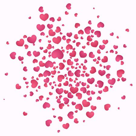 Hearts burst background. Valentines day concept. Vector illustration EPS10