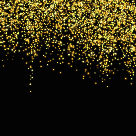 Gold glitter falling stars. Abstract vector illustration EPS10