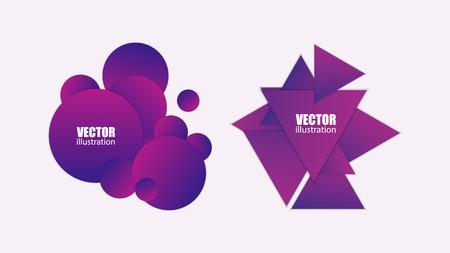 Geometric badges set. Minimal abstract background. Vector illustration EPS10 Ilustrace