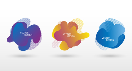 Set of abstract modern graphic elements. Dynamical colored forms. Vector banner set. EPS10