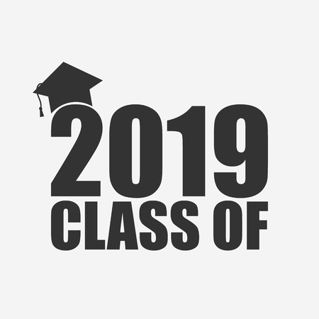 Class of 2019. Template for graduation design. Vector illustration. EPS10 Ilustrace