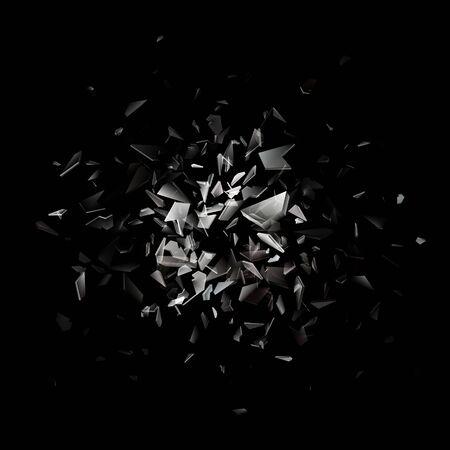 Shards of broken glass. Abstract explosion. Realistic vector background. Standard-Bild - 133435101