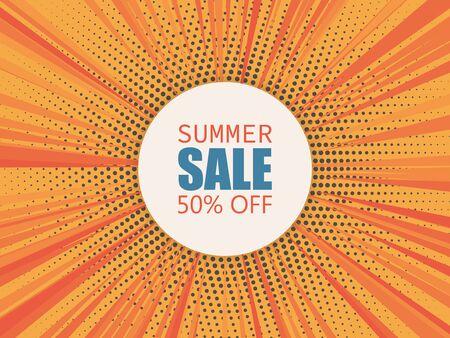 Summer sale banner. Abstract vector background. Ilustração