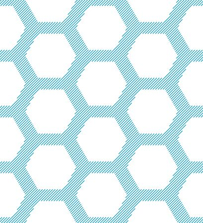 Seamless geometric pattern with hexagons. Abstract background. Vector illustration Ilustrace