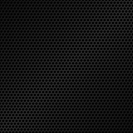 Honeycomb pattern. Black metal texture background. Vector illustration Ilustrace