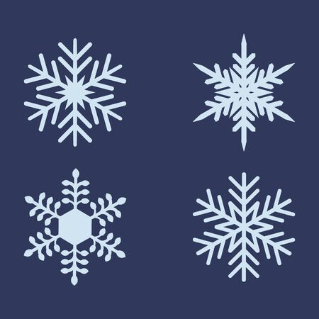 Snowflakes set. New year design. Vector illustration Illustration