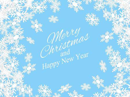 Weihnachten und Neujahr Hintergrund mit Schneeflocken. Vektor-Illustration. EPS10 Vektorgrafik