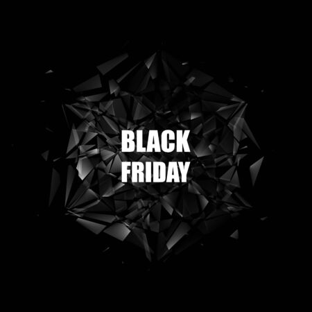 Black Friday Sale Banner. Abstract Vector Background.