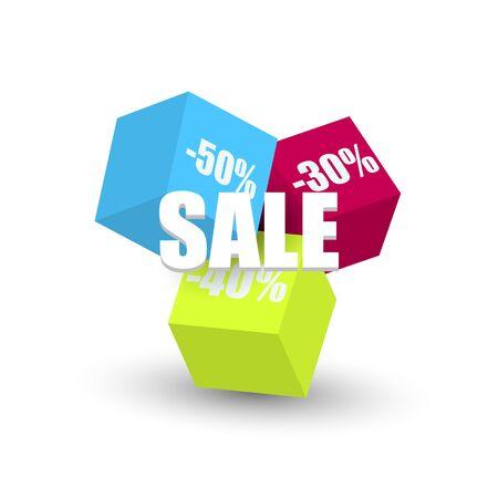 Sale banner template design. Vector illustration. Ilustração