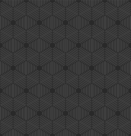 Seamless geometric pattern with hexagons. Vector background
