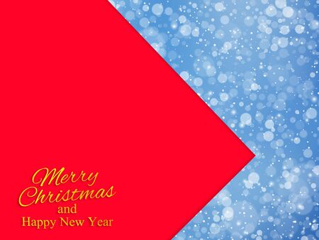 Christmas and New Year background with snowflakes. Vector illustration Ilustracja