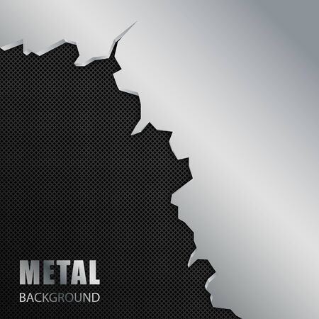 Silver and black metal background. Abstract vector illustration EPS10 Standard-Bild - 135841183