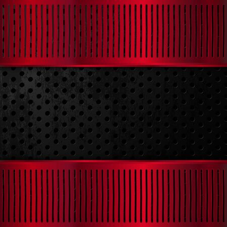 Black and red metallic background. Vector illustration EPS10 Standard-Bild - 135842456