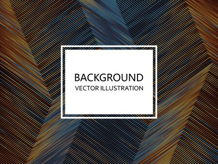 Abstract colorful geometric background with lines. Vector illustration Standard-Bild - 136147341